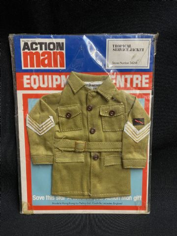 VINTAGE ACTION MAN -  EQUIPMENT CENTRE - TROPICAL SERVICE JACKET Cat No 34268 (Ref2)